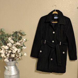 Calvin Klein Black Buttoned Pea Coat Sz S